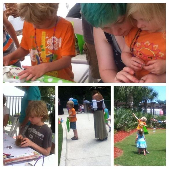 A little pirate art fun at a family event in St. Augustine
