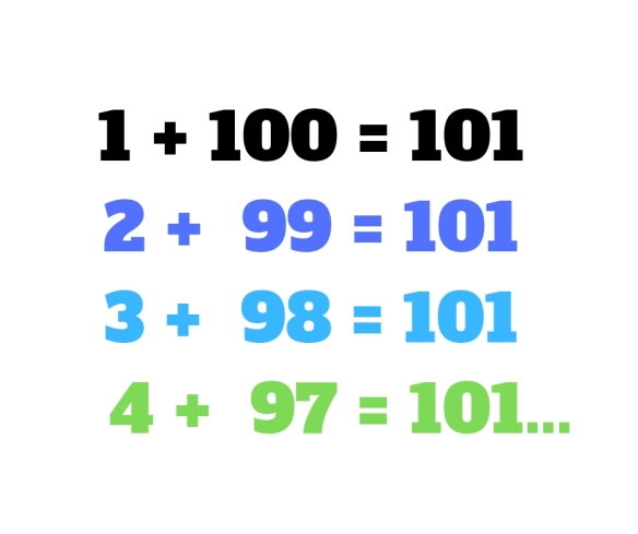 How to add all the numbers 1-100 in less than a minute